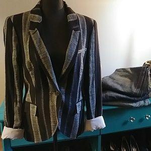 NWOT Zara pinstripe blazer